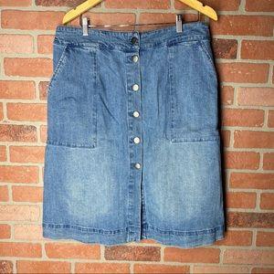 Ava& ViV jeans skirt size L